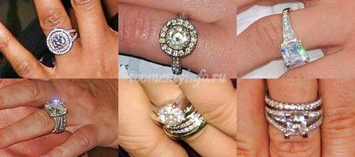Кольца обручальные с бриллиантами