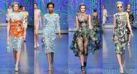 Модные платья 2012, фото платьев модных брендов