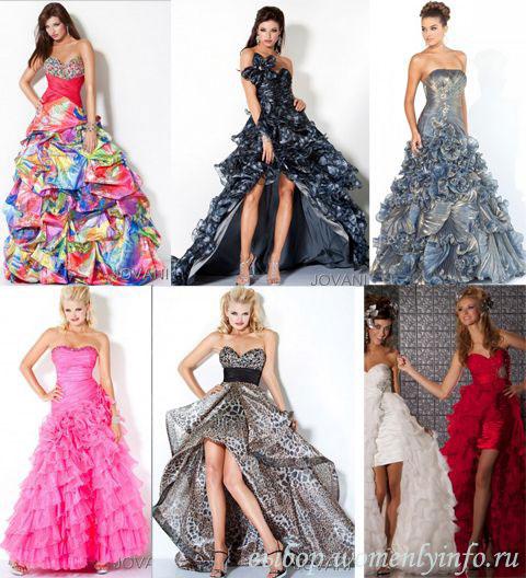 Платья на выпускной 2012 фото модных брендов