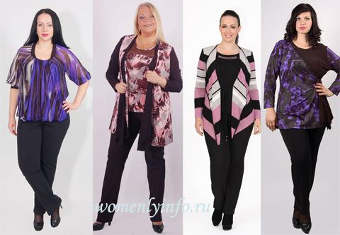 377d96e595e Мода для полных женщин за 50 лет
