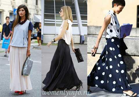 С чем носить длинную юбку — лучшие образы