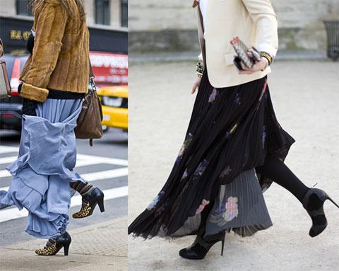 С чем носить длинную юбку – лучшие образы