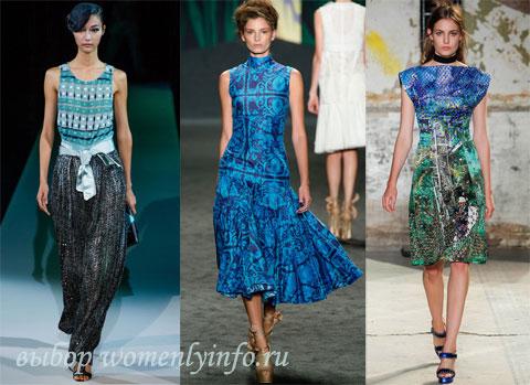 Модные платья 2013, фото фасонов модных платьев